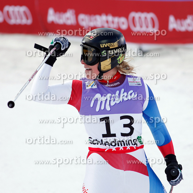 05.02.2013, Planai, Schladming, AUT, FIS Weltmeisterschaften Ski Alpin, Super G, Damen, im Bild Lara Gut (SUI) // Lara Gut of Switzerland during Super-G Ladies at the FIS Ski World Championships 2013 at the Planai Course, Schladming, Austria on 2013/02/05. EXPA Pictures © 2013, PhotoCredit: EXPA/ Martin Huber