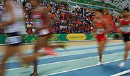 Ashgabat, Turkmenistan - 2017 September 19:<br /> while Indoor Athletics competition during 2017 Ashgabat 5th Asian Indoor & Martial Arts Games at Indoor Athletics Arena (ATH) at Ashgabat Olympic Complex on September 19, 2017 in Ashgabat, Turkmenistan.<br /> <br /> Photo by © Adam Nurkiewicz / Laurel Photo Services