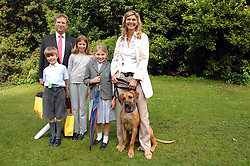WILLIAM & LUCY ASPREY with their children, left to right, TOM, EMILY and ANNABEL and their dog Rufus at Macmillan Dog Day in aid of Macmillan Cancer Support, held at Royal Hospital Chelsea, London on 3rd July 2007.<br /><br />NON EXCLUSIVE - WORLD RIGHTS