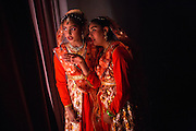 Dancers watch and critique others  backstage during the ICC Youthsava 2016 Dance Competition at the India Community Center in Milpitas, California, on April 9, 2016. (Stan Olszewski/SOSKIphoto)