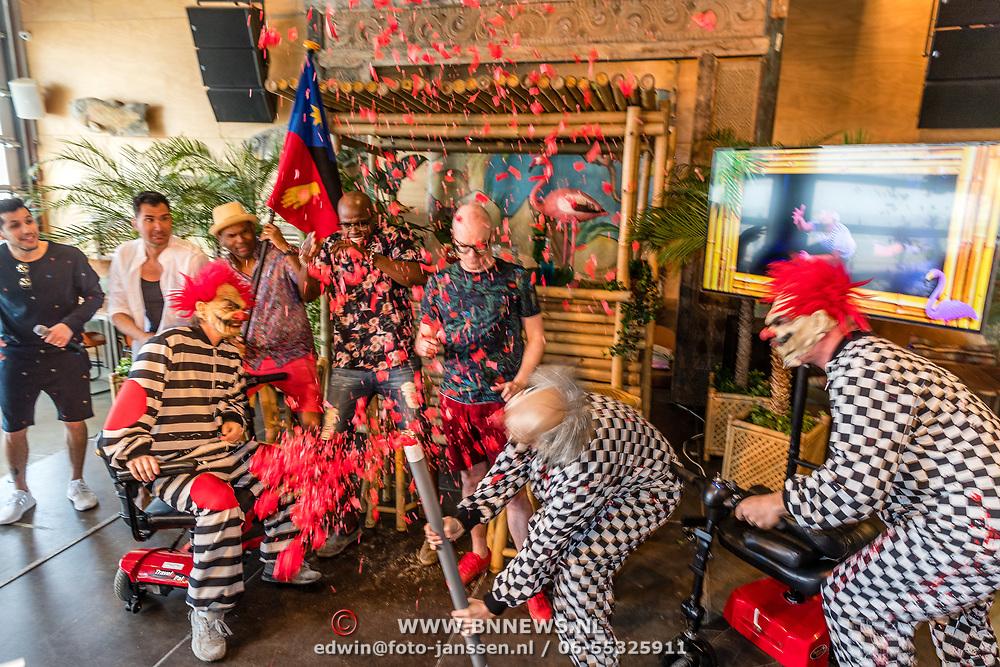 NLD/Overveen/20170330 - Gabbers presenteren nieuwe show, Jandino Asporaat, Guido Weijers, Roue Verveer en Philip Geubels met The Aston Brothers
