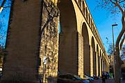 Les Arceaux, Montpellier, France, the neighbourhood dominated by the Saint clément aqueduct.