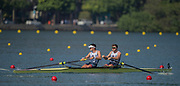 "Rio de Janeiro. BRAZIL. GBR M2-. Semi Final A/B. bow. Alan SINCLAIR and Stewart INNES.  2016 Olympic Rowing Regatta. Lagoa Stadium,<br /> Copacabana,  ""Olympic Summer Games""<br /> Rodrigo de Freitas Lagoon, Lagoa.   Tuesday  09/08/2016 <br /> <br /> [Mandatory Credit; Peter SPURRIER/Intersport Images]"