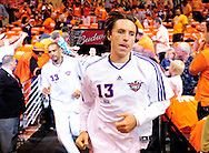 May 23, 2010; Phoenix, AZ, USA; Phoenix Suns guard Steve Nash (13) runs to the court for warm ups prior to  game three of the western conference finals in the 2010 NBA Playoffs at US Airways Center.  Mandatory Credit: Jennifer Stewart-US PRESSWIRE