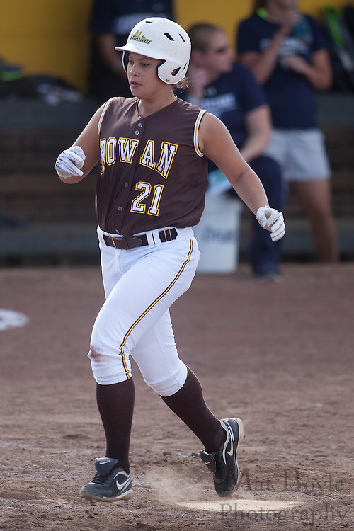 Rowan University Softball Junior Lindsey Sampolski (21); Rowan University Softball vs. Centenary College in Glassboro, NJ on Tuesday March 20, 2012. (photo / Mat Boyle)