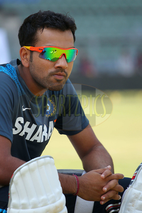 Rohit Sharma of India  during the Indian nets session and press conference held at the Wankhede Stadium in Mumbai, India on the 13th November 2013<br /> <br /> Photo by: Ron Gaunt - BCCI - SPORTZPICS
