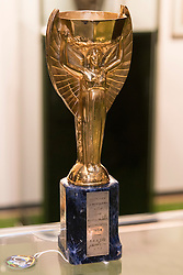 © Licensed to London News Pictures. 01/06/2016. Jules Rimet Trophy (Est £280,000-£420,000) from the Pele: The Collection with over 1,500 items of memorabilia owned by Pele for sale on later in June. London, UK. Photo credit: Ray Tang/LNP