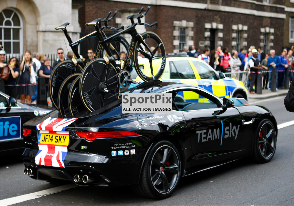 Team Sky support car. Friends Life Tour of Britain 2014. Round 8. (c) Matt Bristow | SportPix.org.uk