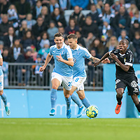 2019-10-06 | Malmö, Sweden: IFK Göteborg (28) Alhassan Yusuf during the game between Malmö FF and IFK Göteborg at Malmö Stadion ( Photo by: Roger Linde | Swe Press Photo )<br /> <br /> Keywords: Malmö Stadion, Malmö, Soccer, Allsvenskan, Malmö FF, IFK Göteborg, mg191006