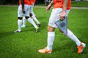 Foto: Gerrit de Heus. Driehuis. 14-07-2015. Telstar-Elftal VVCS. Geert-Arend Roorda met vaantje.