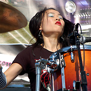 Nerida Wu of The Dark Shadows performs at The 5th Annual Ink-N-Iron Festival held at The Queen Mary in Long Beach California USA on June 8, 2008