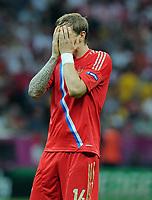 Fotball<br /> 16.06.2012<br /> EM 2012<br /> Russland v Hellas<br /> Foto: Witters/Digitalsport<br /> NORWAY ONLY<br /> <br /> Roman Pavlyuchenko (Roman Pawljutschenko, Russland)<br /> Fussball EURO 2012, Vorrunde, Gruppe A, Griechenland - Russland 1:0