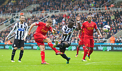 19.10.2013, St. James Park, New Castle, ENG, Premier League, ENG, Premier League, Newcastle United vs FC Liverpool, 8. Runde, im Bild Liverpool's captain Steven Gerrard, action against Newcastle United // during the English Premier League 8th round match between Newcastle United and Liverpool FC St. James Park in New Castle, Great Britain on 2013/10/19. EXPA Pictures © 2013, PhotoCredit: EXPA/ Propagandaphoto/ David Rawcliffe<br /> <br /> *****ATTENTION - OUT of ENG, GBR*****