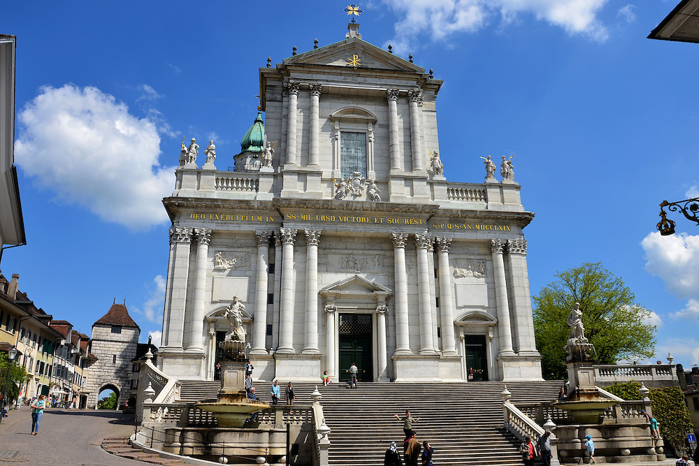 Cathedral of St. Ursus and Basle Gate in Solothurn, Switzerland<br />