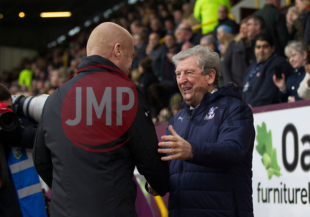 Burnley manager Sean Dyche (L) and Crystal Palace manager Roy Hodgson  - Mandatory by-line: Jack Phillips/JMP - 02/03/2019 - FOOTBALL - Turf Moor - Burnley, England - Burnley v Crystal Palace - English Premier League