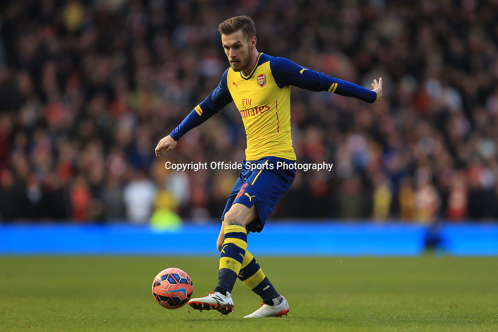 25 January 2015 - The FA Cup Fourth Round - Brighton v Arsenal - Aaron Ramsey of Arsenal - Photo: Marc Atkins / Offside.