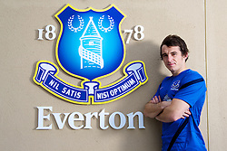 LIVERPOOL, ENGLAND - Friday, September 14, 2012: Everton's Leighton Baines poses for a photograph at the club's Finch Farm training ground. (Pic by David Rawcliffe/Propaganda)