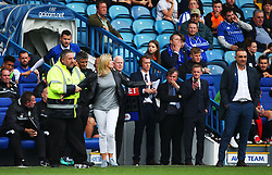 An angry Sheffield Wednesday fan confronts Sheffield Wednesday manager Carlos Carvalhal - Mandatory by-line:  Matt McNulty/JMP - 24/09/2017 - FOOTBALL - Hillsborough - Sheffield, England - Sheffield Wednesday v Sheffield United - Sky Bet Championship