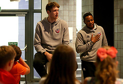 Panos Mayindombe and Michael Vigor of Bristol Flyers take part in the 2017/18 season launch event at Ashton Gate - Mandatory by-line: Robbie Stephenson/JMP - 11/09/2017 - BASKETBALL - Ashton Gate - Bristol, England - Bristol Flyers 2017/18 Season Launch