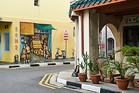 Singapour, Chinatown, peinture murale // Singapore, Chinatown, wall painting