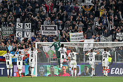 October 2, 2018 - Turin, Piedmont, Italy - Juventus players celebrate the victory after the Juventus FC UEFA Champions League match between Juventus FC and Berner Sport Club Young Boys at Allianz Stadium on October 02, 2018 in Turin, Italy..Juventus won 3-0 over Young Boys. (Credit Image: © Massimiliano Ferraro/NurPhoto/ZUMA Press)