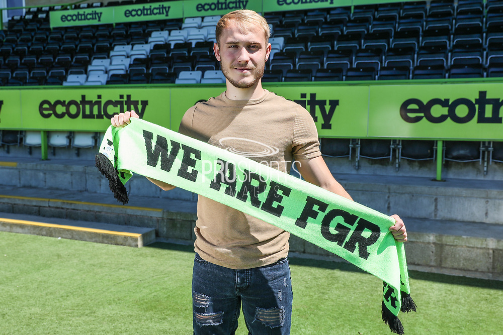 Isaac Pearce signs for Forest Green Rovers at the New Lawn, Forest Green, United Kingdom on 27 June 2018. Picture by Shane Healey.