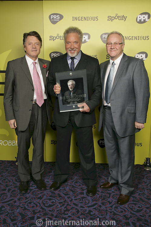 Fran Nevrkla (Chairman & CEO, PPL), Sir Tom jones and