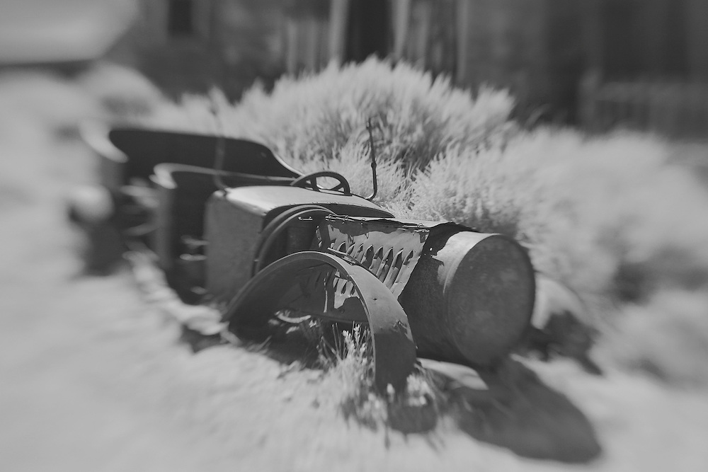 Abandoned Car Remains - Bodie, CA - Lensbaby - Black & White