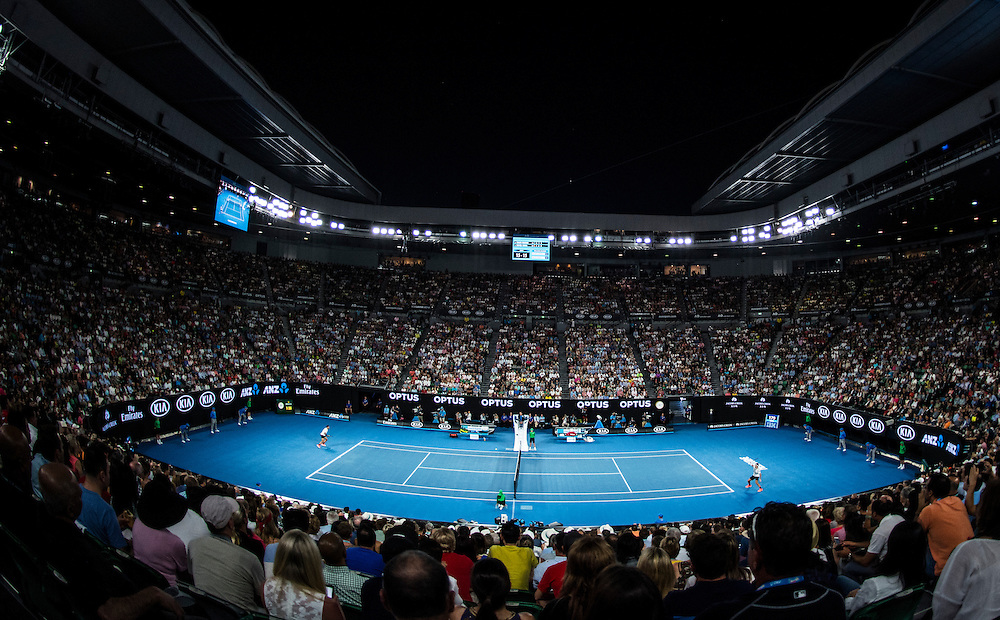 A general view of Rod Laver Arena ahead of the men's final on day fourteen of the 2017 Australian Open at Melbourne Park on January 29, 2017 in Melbourne, Australia.<br /> (Ben Solomon/Tennis Australia)