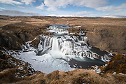 Reykjafoss waterfall in northwest Iceland.