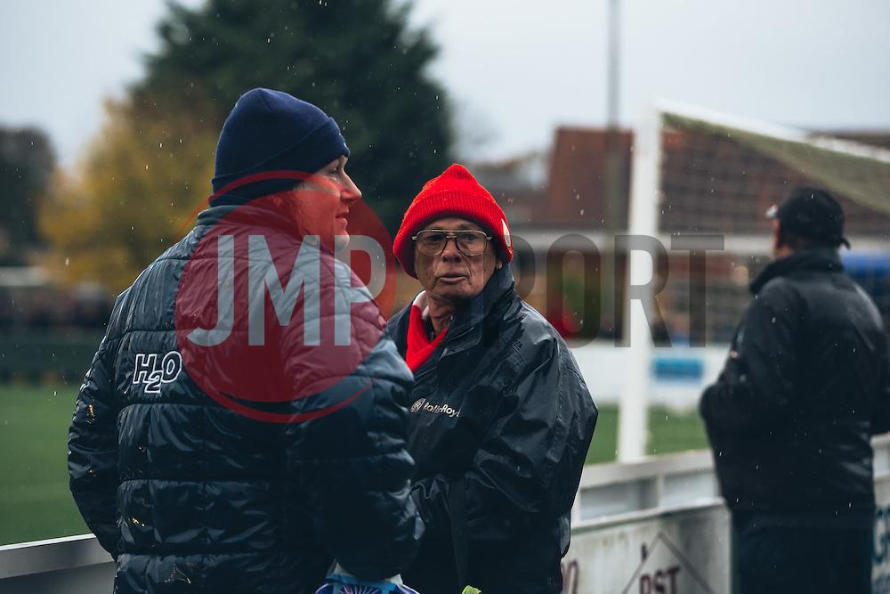 Bristol City Women fans brave the cold - Rogan Thomson/JMP - 06/11/2016 - FOOTBALL - The Northcourt Stadium - Abingdon-on-Thames, England - Oxford United Women v Bristol City Women - FA Women's Super League 2.