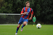 Patrick Bamford on the attack during the U21 Professional Development League match between U21 QPR and U21 Crystal Palace at the Loftus Road Stadium, London, England on 31 August 2015. Photo by Michael Hulf.