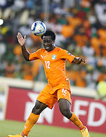 Wilfried Bony of Ivory Coast in action against Algeria during their AFCON 2015 Quarter Finals Match on February 1 2015 at Estadio de Malabo Equatorial Guinea. Photo/Mohammed Amin/www.pic-centre.com (Equatorial Guinea)