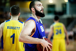 Dzoko Salic of Helios Suns during basketball match between KK Hopsi Polzela and KK Helios Suns in semifinal of Spar Cup 2018/19, on February 16, 2019 in Arena Bonifika, Koper / Capodistria, Slovenia. Photo by Vid Ponikvar / Sportida