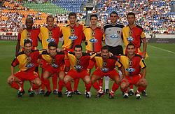 TEAM GROUP.GALATASARAY 2003/2004.THE SONY AMSTERDAM TOURNAMENT.GALATASARAY V INTERNAZIONALE 01/08/03.