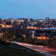 Sheffield panoramic city skyline