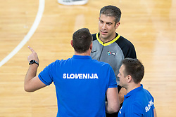 Radoslav Trifunovic, Head coach of Slovenia and Referee during basketball match between National teams of Slovenia and Turkey in Round #8 of FIBA Basketball World Cup 2019 European Qualifiers, on September 17, 2018 in Arena Stozice, Ljubljana, Slovenia. Photo by Urban Urbanc / Sportida