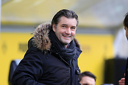 15.02.2014, Signal Iduna Park, Dortmund, GER, 1. FBL, Borussia Dortmund vs Eintracht Frankfurt, 21. Runde, im Bild Sportdirektor Michael Zorc (Borussia Dortmund) gut gelaunt am Lachen, Emotion, Freude, Glueck // during the German Bundesliga 21th round match between Borussia Dortmund and Eintracht Frankfurt at the Signal Iduna Park in Dortmund, Germany on 2014/02/15. EXPA Pictures © 2014, PhotoCredit: EXPA/ Eibner-Pressefoto/ Schueler<br /> <br /> *****ATTENTION - OUT of GER*****