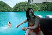 """Milky way"", Mud bath, Rock Islands, Palau, Micronesia"