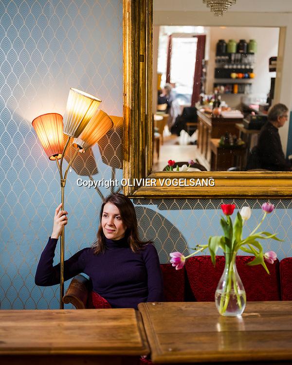 Genève, mars 2018. Elodie Bordas, comédienne romande. © Olivier Vogelsang