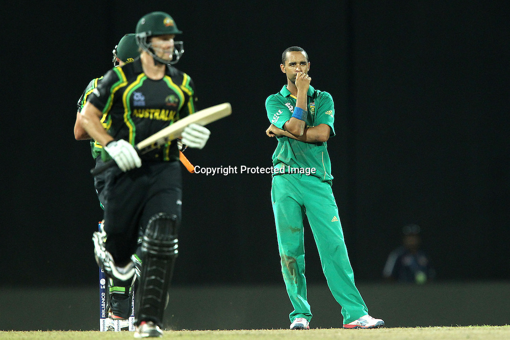 Robin Pieterson during the ICC World Twenty20 Super 8s match between Australia and South Africa held at the Premadasa Stadium in Colombo, Sri Lanka on the 30th September 2012<br /> <br /> Photo by Ron Gaunt/SPORTZPICS