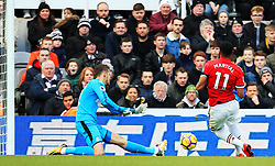 Martin Dubravka of Newcastle United saves a shot from Anthony Martial of Manchester United - Mandatory by-line: Matt McNulty/JMP - 11/02/2018 - FOOTBALL - St James Park - Newcastle upon Tyne, England - Newcastle United v Manchester United - Premier League