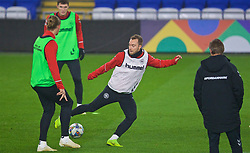 CARDIFF, WALES - Thursday, November 15, 2018: Denmark's Christian Eriksen during a training session at the Cardiff City Stadium ahead of the UEFA Nations League Group Stage League B Group 4 match between Wales and Denmark. (Pic by David Rawcliffe/Propaganda)