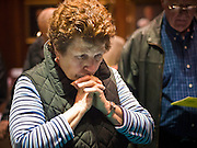 09 JANUARY 2012 - PHOENIX, AZ:   Joyce McLennan (CQ) from Gilbert, prays in the House of Representatives  during the Prayer Walk sponsored by the Center for Arizona Policy at the Arizona State Capitol in Phoenix Monday. The Arizona legislature started its 2012 session and Gov. Jan Brewer delivered her State of the State Monday, Jan 9.            PHOTO BY JACK KURTZ