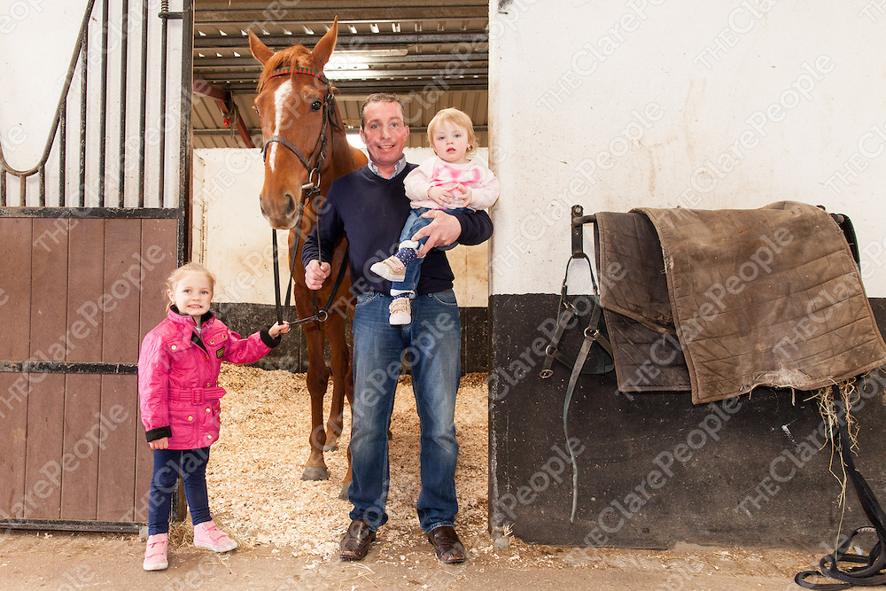 Jason Titley with his daughters Leah and Jessie