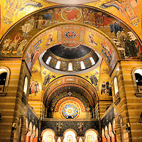 Mosaics Inside Cathedral Basilica of Saint Louis in Saint Louis, Missouri<br />