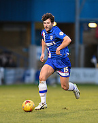 Gillingham defender Aaron Morris on the ball during the Sky Bet League 1 match between Gillingham and Swindon Town at the MEMS Priestfield Stadium, Gillingham, England on 6 February 2016. Photo by David Charbit.