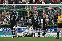 Photo: Lee Earle.<br /> Yeovil Town v Swansea City. Coca Cola League 1. 24/02/2007.Swansea  keeper Andy Oakes looks dejected after Yeovil scored.