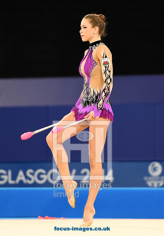 Francesca Jones WAL during her Silver medal winning performance in the Rhythmic Gymnastics Clubs final at SSE Hydro, Glasgow<br /> Picture by Alan Stanford/Focus Images Ltd +44 7915 056117<br /> 26/07/2014