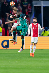 08-05-2019 NED: Semi Final Champions League AFC Ajax - Tottenham Hotspur, Amsterdam<br /> After a dramatic ending, Ajax has not been able to reach the final of the Champions League. In the final second Tottenham Hotspur scored 3-2 / Frenkie de Jong #21 of Ajax, Moussa Sissoko #17 of Tottenham Hotspur, Lasse Schone #20 of Ajax